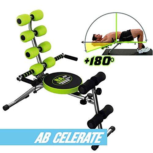Gymform Celerate - Attrezzo per addominali, colore: nero/verde