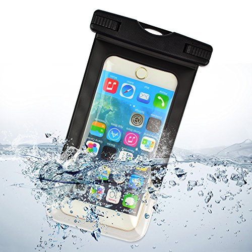 ECCRIS discount duty free Sumaclife Waterproof Case, with Neck Strap Cell Phone Holsters & Clips for 5.5 Inch Devices, for Apple iPhone 4S / Apple iPhone 5 / Apple iPhone 5C / Apple iPhone 5S / Apple iPhone 6 / Apple iPhone 6 Plus (black)