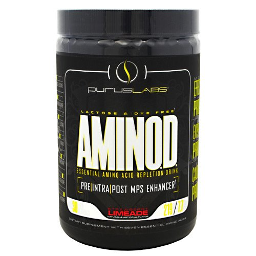 Purus Labs Aminod Energy-Drink, Strawberry Limeade, 219 Gram