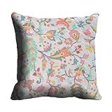 MeSleep Digitally Printed Abstract Micro Fabric Cushion Cover - Blue (CDEK-11)