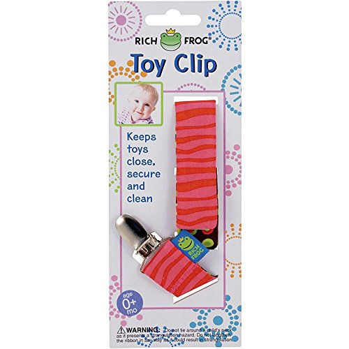 Rich Frog Toy Clip - Pink