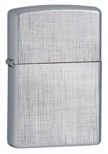 Zippo Linen Weave Lighter (Silver, 5 1/2X3 1/2-Cm)