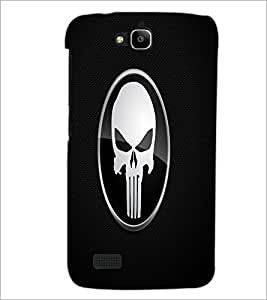 PrintDhaba Skull D-1461 Back Case Cover for HUAWEI HONOR HOLLY (Multi-Coloured)