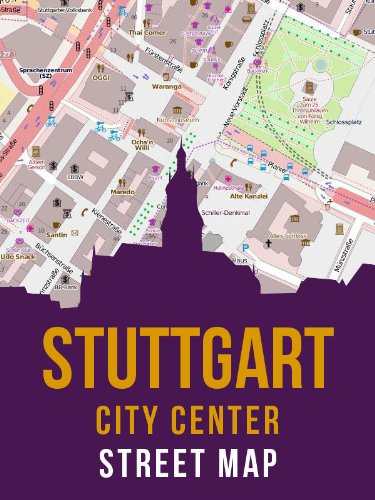 Stuttgart, Germany City Center Street Map (Stuttgart-Mitte)