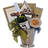 Congratulations and Cheers To You! Caviar Gourmet Food Gift Basket with Ice Bucket