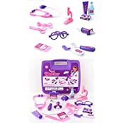 Childrens Pretend Play Toys Deluxe Pink Doctor Medical Kit Playset For Kids, Doctor Kit Christmas Gift/ Birthday...