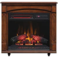 ChimneyFree 5200 BTU Electric Infrared Quartz Fireplace with Remote (Cherry)