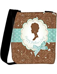 Snoogg Mothers Day Card Cute Vintage Frames With Ladies Silhouettes Womens Carry Around Cross Body Tote Handbag...