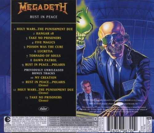 Megadeth Rust In Peace Cd Amazon com Megadeth Rust in