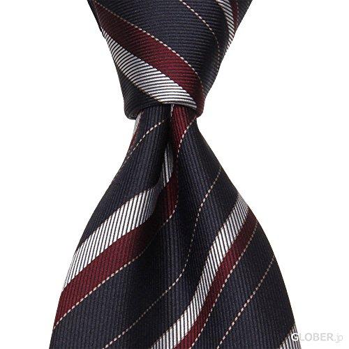 (タイユアタイ)Tie Your Tie ネクタイ セッテピエゲ ストライプ ナロー ネイビー・ワイン 【正規販売店】
