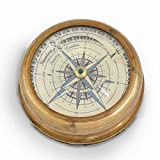 Single PieceEthnic Treat 1 Real Compass Diameter: 2.3 Brass Real Compass