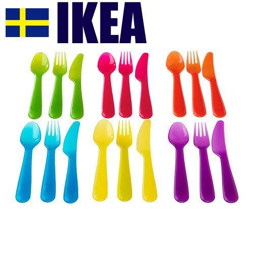 IKEA (イケア) カラフル カトラリー 6色セット KALAS 101-929-61 101.929.61 アソートカラー
