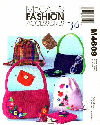 Mccall'S 4609 Sewing Pattern Fashion Accessories Girls Backpacks & Bags front-883382