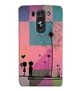 PrintVisa Romantic Love Couple 3D Hard Polycarbonate Designer Back Case Cover for LG G3 BEAT
