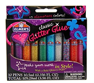 Glitter Pens Rainbow  Colors 10