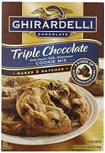 Ghirardell Chocolate Triple Chocolate Semi Sweet- Milk- Bittersweet Cookie Mix - 52.5 oz