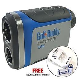 BUNDLE: GolfBuddy LR5 Golf Laser Rangefinder + Battery and Charger