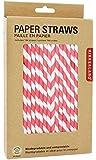 Kikkerland - Paper Straws Red - 144 Count