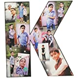Personalized Alphabets Photo Collage Cut Out (Any Alphabet Available )8 X 12 Inch With Your Photos And Quotes Personalized Gifts,Personalized Photo Gifts , Valentines Day Gift, Happy Birthday Gift, Anniversary Gift, Diwali Gift,Personalized Gift For Husba