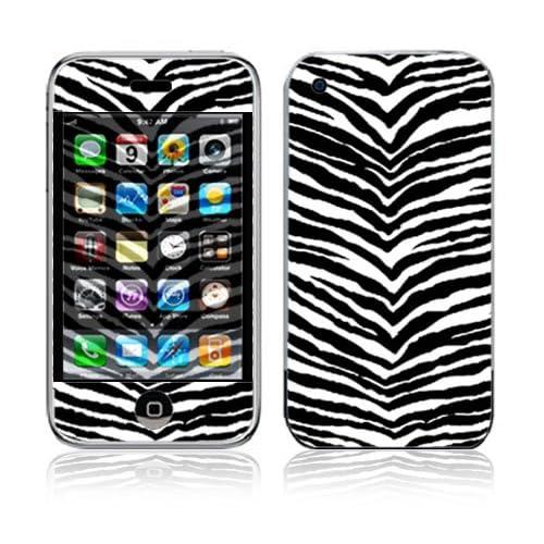 Black Zebra Skin Decorative Skin Cover Decal Sticker for Apple 2G iPhone (1st Gen)