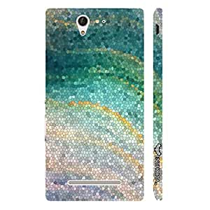 Enthopia Designer Hardshell Case Coloured Mosaic Back Cover for Sony Xperia C3