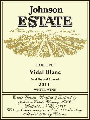 2011 Johnson Estate Lake Erie Vidal Blanc 750 Ml