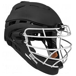 Wilson Pro Stock Shock FX 2.0 Fastpitch Catcher's Helmet (Black/Small-Medium, 6 1/8 - 7 1/8)