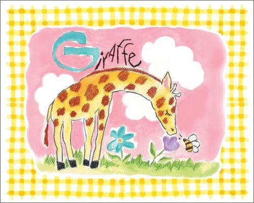 """Art 4 Kids """"Gingham Giraffe"""" Mounted Art Print, 20""""X16"""" front-744831"""