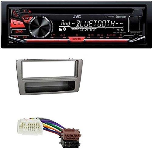 JVC-CD-MP3-USB-Bluetooth-Autoradio-fr-Honda-Civic-bis-2003-man-Klima-silber