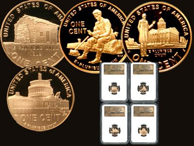 2009 NGC PF 69 4 Coin Commemorative Lincoln Cent Set