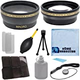 62mm 0.43x Wide Angle Lens + 2.2x Telephoto Lens with Deluxe Lens Accessories Kit for Pentax K30 W/ 18-135MM LENS K5 II W/ 18-135MM K3 W/ 18-135MM & K50 W/ 18-135MM