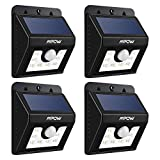 Mpow Bright LED Solar light, Security Lighting Outdoor Motion Sensor Lighting for Garden Patio Fencing Pool (4-Pack)