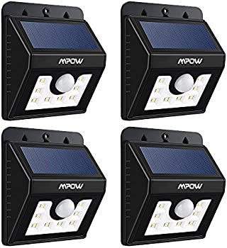 4-Pack MPOW Solar Powered LED Sensor Light