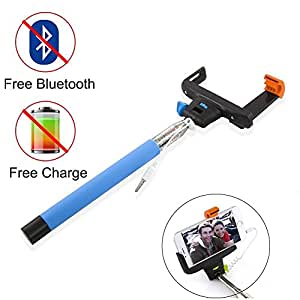 eimolife extendable durable self portrait handheld selfie stick monopod audio cable take pole. Black Bedroom Furniture Sets. Home Design Ideas