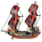 Holy stone Sluban ブラックパール号 海賊船 大きい サイズ ブロック 632ピース 知育玩具 プレゼント M38-B0129