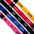 Luxury Luggage strap personalised with upto 10 letters 2.0 x 50mm by Personalised Straps