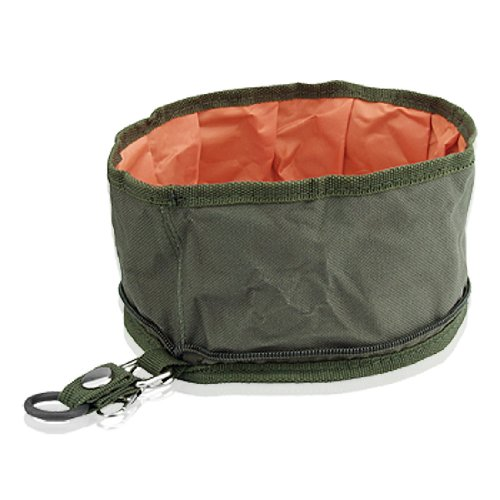 Collapsible Fabric Travel Pet Food or Water Bowl