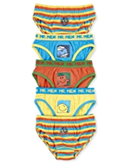5 Pack Pure Cotton Mr. Men Slips