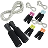 Da Vinci Weighted 10-Feet Adjustable Speed Cable Jump Rope with Ball Bearing Handle Mechanism