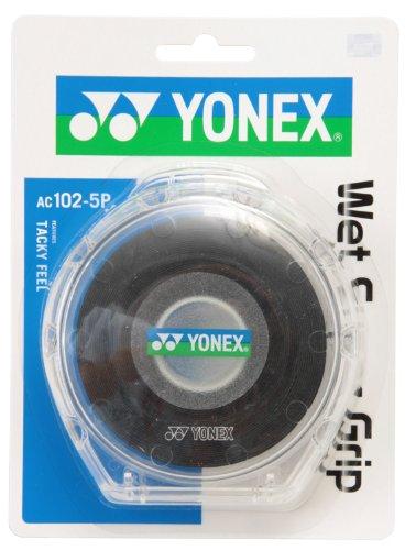 Yonex (YONEX) wet Super grip 5 Pack (5 pieces) black AC1025P007
