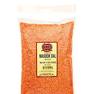 Spicy World Masoor Dal (Indian Red Lentils) 4 Pounds from Spicy World