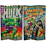 Oriental Furniture 6-Feet Tall Double Sided Fantastic Four/The Incredible Hulk Canvas Room Divider