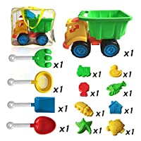 13-pieces Beach Sand Toys Set in Zippered Bag with Truck from Befly