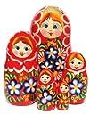 Floretta Nesting Dolls 5-pc 7H in Red