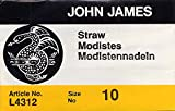 Colonial Needle 25 Count John James Milliners/Straw Uncarded Needles, Size 10