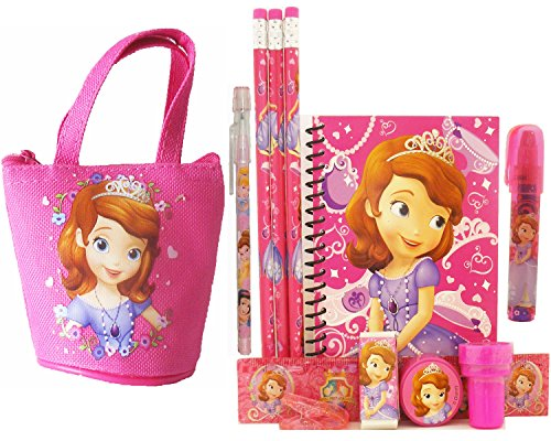 Disney Princess Sofia Mini Coin Purse with Stationery Set - Hot Pink