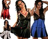 Nine X- Women's Sexy Satin & Mesh Lingerie Plus Size / Reg Babydoll 3012