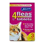 Johnsons 4Fleas Tablets For Cats & Kittens 3 Pack