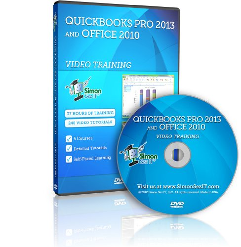 Quickbooks Pro 2013 And Microsoft Office 2010 Video Training Tutorials