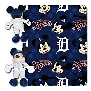MLB Detroit Tigers 40x50-Inch Throw with 14-Inch Hugger by Disney
